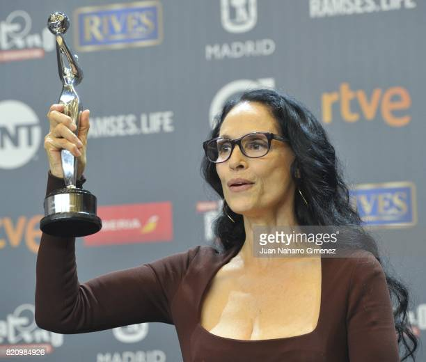 Actress Sonia Braga attends the 'Platino Awards 2017' winners photocall at La Caja Magica on July 22 2017 in Madrid Spain She receives the 'Best...