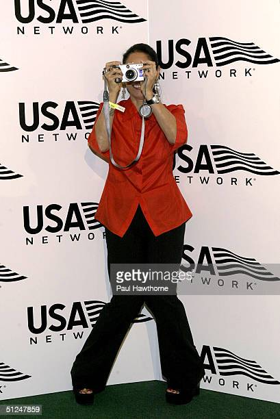 Actress Sonia Braga attends the US Open opening night party at Aces Restaurant in Arthur Ashe Stadium August 30 2004 in New York City