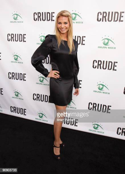 Actress Sonia Rockwell arrives for the screening of the film 'CRUDE' at Harmony Gold Theatre on September 17 2009 in Los Angeles California