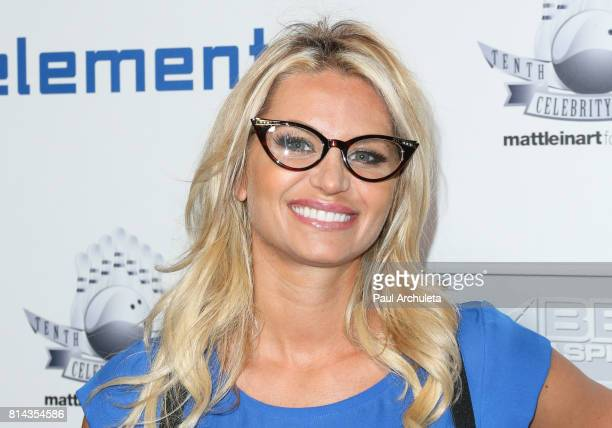 Actress Sonia Rockwell attends the Matt Leinart Foundation's 9th annual 'Celebrity Bowl' at Lucky Strike Lanes on July 13 2017 in Hollywood California