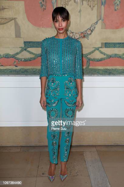 Actress Sonia Rolland attends the Georges Hobeika Haute Couture Spring Summer 2019 show as part of Paris Fashion Week on January 21 2019 in Paris...