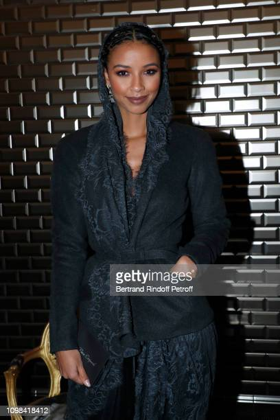 Actress Sonia Rolland attends the JeanPaul Gaultier Haute Couture Spring Summer 2019 show as part of Paris Fashion Week on January 23 2019 in Paris...