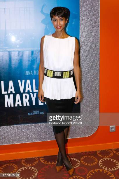 Actress Sonia Rolland attends the screening of 'La valse de Marylore' short film Held at Cinema Gaumont Opera in Paris on March 6 2014 in Paris...