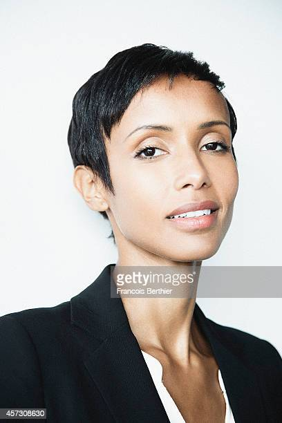 Actress Sonia Rolland is photographed for Le Film Francais on October 13 2014 in Paris France