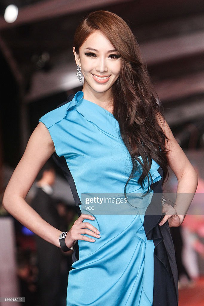 Actress Sonia Sui arrives at the red carpet of the 49th Golden Horse Awards at the Luodong Cultural Working House on November 24, 2012 in Ilan, Taiwan.