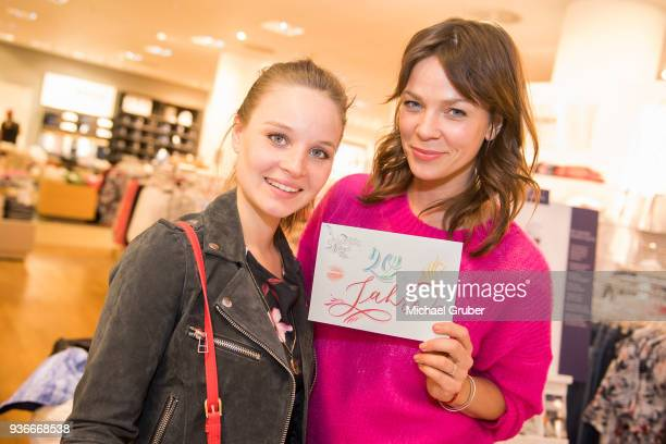 Actress Sonja Gerhardt and Acrtress Jessica Schwarz during the Launch POP event on the occasion of the 20th anniversary of the Peek Cloppenburg store...