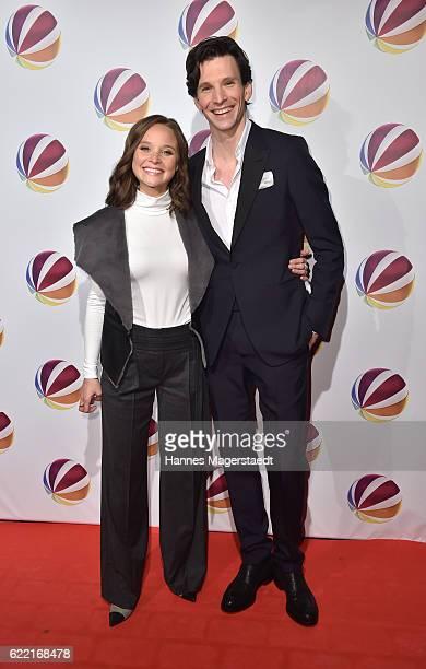 Actress Sonja Gerhardt and actor Sabin Tambrea during the 'Jack the Ripper Eine Frau jagt einen Moerder' Premiere at Gloria Palast on November 10...