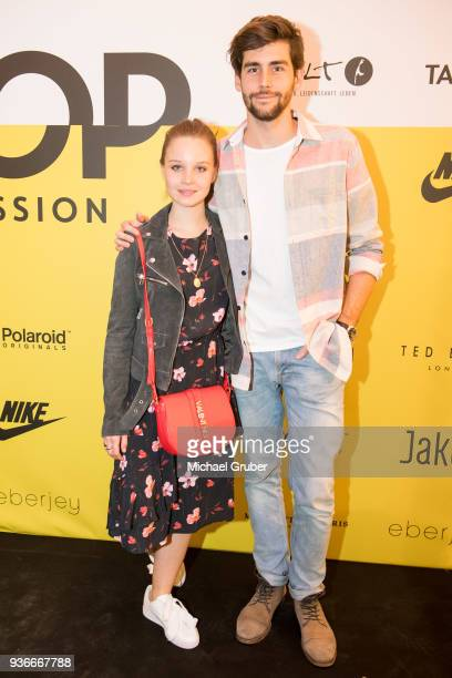 Actress Sonja Gerhardt and Singer Alvaro Soler during the Launch POP event on the occasion of the 20th anniversary of the Peek Cloppenburg store at...