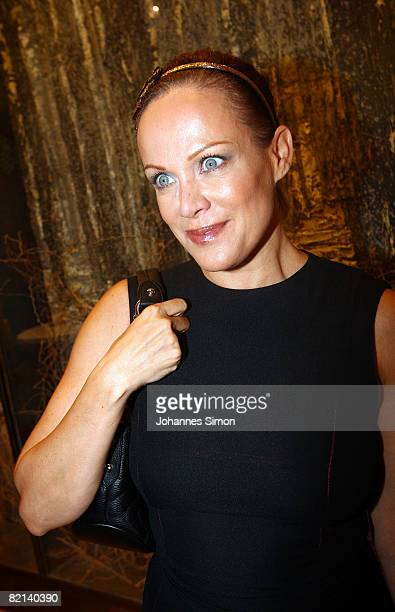 Actress Sonja Kirchberger attends the Montblanc reception at Ropac Gallery after the 'Der Stein' theatre premiere on July 31 2008 in Sazlburg Austria