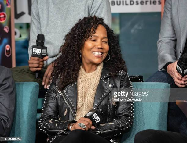 Actress Sonja Sohn who is one of the cast of the movie High Flying Bird talks about the movie inside Build Studio on February 07 2019 in New York City