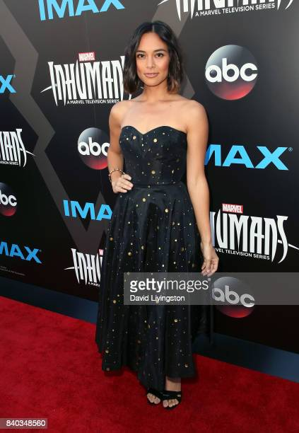 Actress Sonya Balmores attends the premiere of ABC and Marvel's 'Inhumans' at Universal CityWalk on August 28 2017 in Universal City California