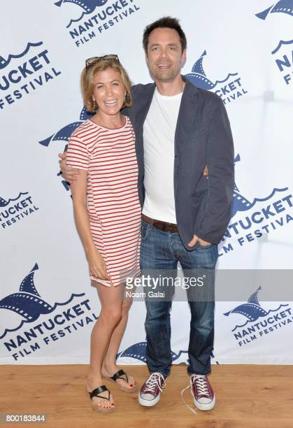 Actress Sonya Walger and screenwriter Davey Holmes attend TV and Talk Get Shorty during the 2017 Nantucket Film Festival Day 3 on June 23 2017 in...