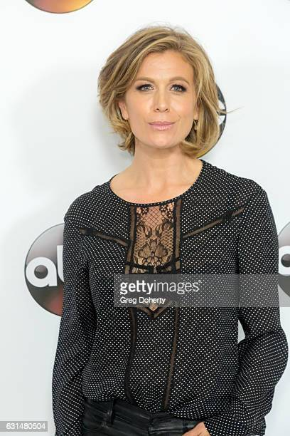 Actress Sonya Walger arrives for the 2017 Winter TCA Tour for Disney/ABC at The Langham Hotel on January 10 2017 in Pasadena California