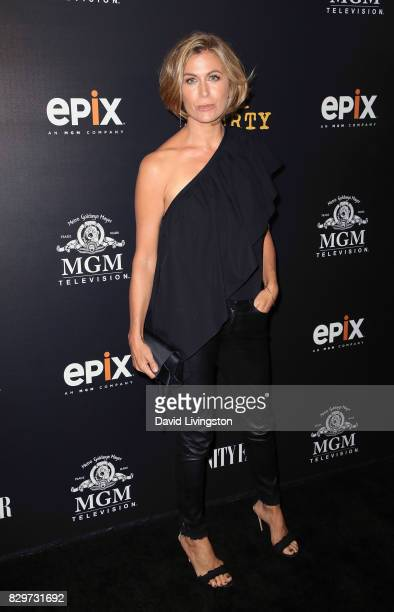 Actress Sonya Walger attends the red carpet premiere of EPIX original series Get Shorty at Pacfic Design Center on August 10 2017 in West Hollywood...