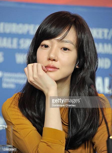 Actress Soo-jung Lim attends the 'Saranghanda, Saranghaji Anneunda' press conference during day eight of the 61st Berlin International Film Festival...