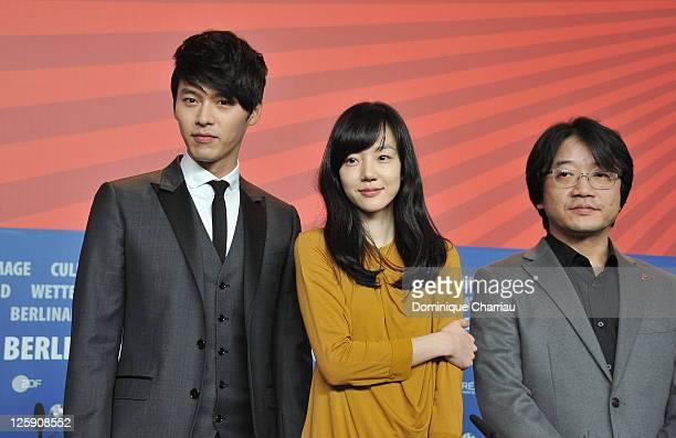 Actress Soo-jung Lim, director Yoon-ki Lee and actor Bin Hyun attend the 'Saranghanda, Saranghaji Anneunda' press conference during day eight of the...