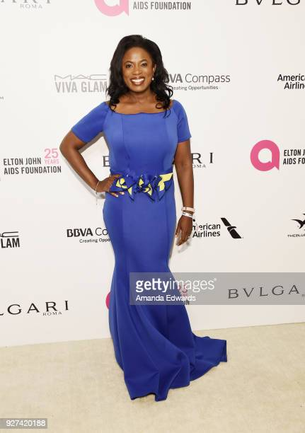 Actress Sope Aluko arrives at the 26th Annual Elton John AIDS Foundation's Academy Awards Viewing Party on March 4 2018 in West Hollywood California