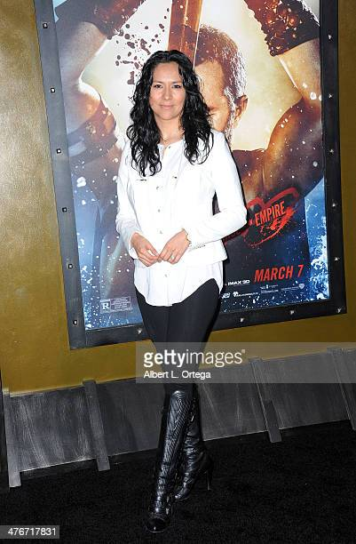 Actress Sophia Adella Hernandez arrives for the Premiere Of Warner Bros Pictures And Legendary Pictures' '300 Rise Of An Empire' held at TCL Chinese...