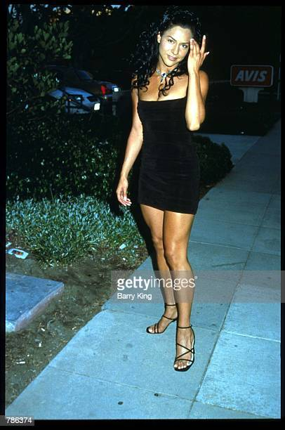 Actress Sophia Adella Hernandez attends the premiere of the film Knockout July 14 1998 in Los Angeles CA Knockout is the story of a young woman who...
