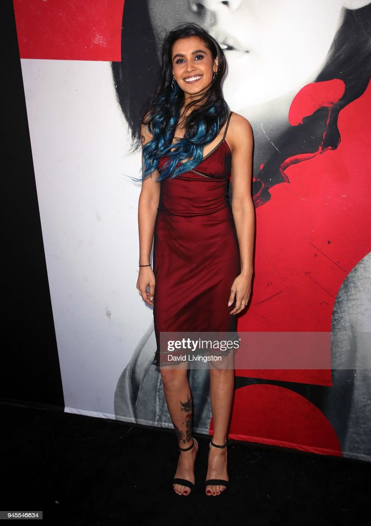 Actress Sophia Ali attends the premiere of Universal Pictures' 'Blumhouse's Truth or Dare' at ArcLight Cinemas Cinerama Dome on April 12, 2018 in Hollywood, California.