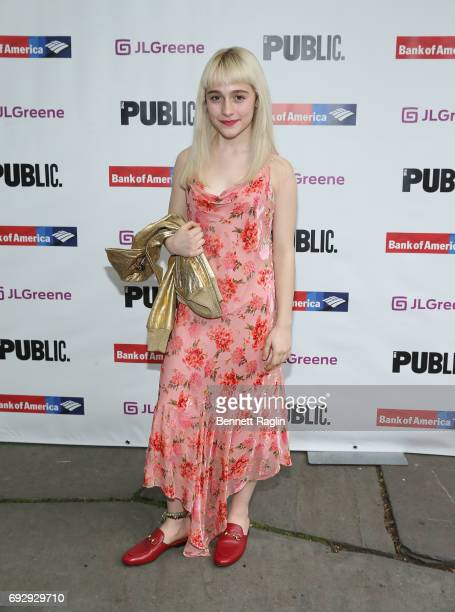 Actress Sophia Anne Caruso attends the 2017 Public Theater Gala Hair to Hamilton at Delacorte Theater on June 5 2017 in New York City
