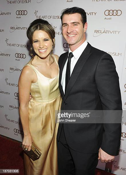 Actress Sophia Bush and actor Kevin Gessay arrive at Audi presents The Art of Elysium's 5th annual HEAVEN at Union Station on January 14, 2012 in Los...