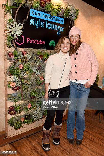 Actress Sophia Bush and actress Alysia Reiner attend Kari Feinstein's Style Lounge on January 22 2016 in Park City Utah