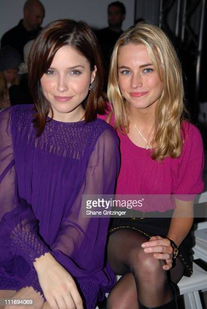 Actress Sophia Bush and Amanda Hearst attend Malandrino Fall 2008 during Mercedes Benz Fashion Week at The Chelsea Museum of Art on February 4 2008...