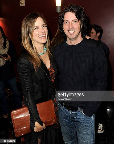 Actress Sophia Bush and creator Mark Schwahn pose at The CW's presentation of 'An Evening with One Tree Hill' at the Arclighht Theater on January 5...
