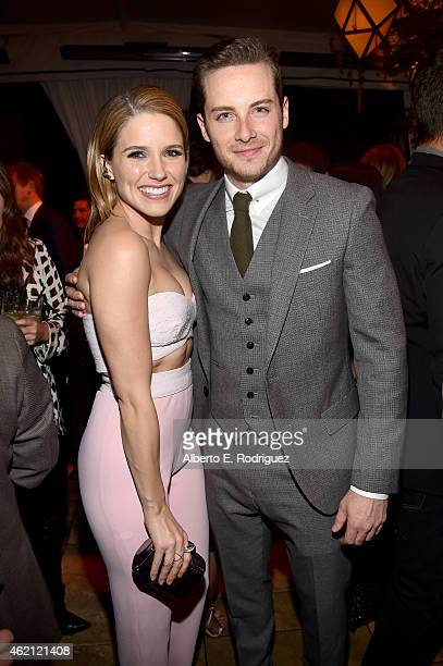 Actress Sophia Bush and Jesse Lee Soffer attend Entertainment Weekly's celebration honoring the 2015 SAG awards nominees at Chateau Marmont on...