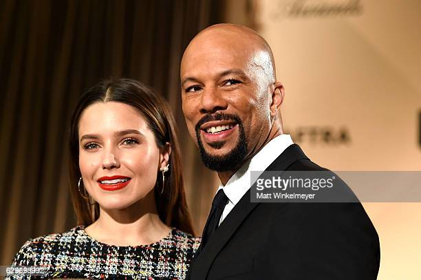 Actress Sophia Bush and rapper Common attend the SAG Awards Online Holiday Auction benefits the SAGAFTRA Foundation at Pacific Design Center on...