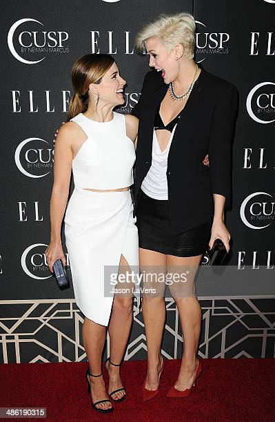 Actress Sophia Bush and singer Betty Who attend ELLE's 5th annual Women In Music concert celebration at Avalon on April 22 2014 in Hollywood...