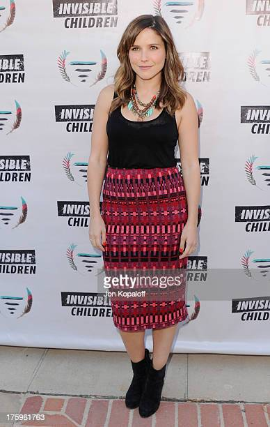 Actress Sophia Bush arrives at the 1st Annual Founders Party For The Invisible Children's 4th Estate Leadership Summit at Royce Hall UCLA on August...