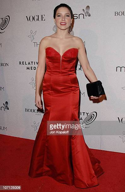 Actress Sophia Bush arrives at The Art of Elysium's 3rd Annual BlackTie Charity Gala Heaven at 9900 Wilshire Blvd on January 16 2010 in Beverly Hills...