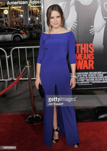 """Actress Sophia Bush arrives at the Los Angeles Premiere """"This Means War"""" at Grauman's Chinese Theatre on February 8, 2012 in Hollywood, California."""