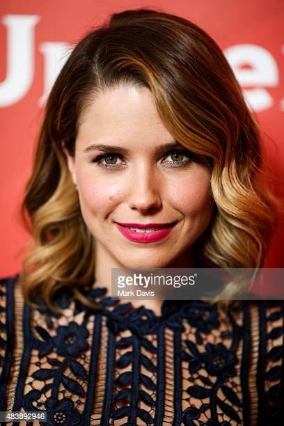 Actress Sophia Bush arrives at the NBCUniversal 2015 Summer Press Tour at the Beverly Hilton on August 13 2015 in Beverly Hills California