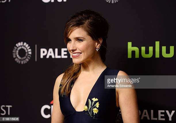 Actress Sophia Bush arrives at The Paley Center For Media's 33rd Annual PaleyFest Los Angeles Stars of Law and Order SVU Chicago Fire Chicago PD and...