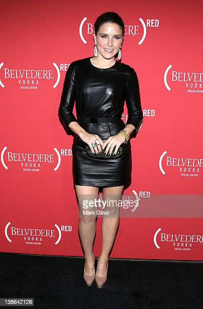 Actress Sophia Bush arrives at the RED PreGrammys Party with Mary J Blige held at Avalon on February 9 2012 in Hollywood California Photo by Mark...