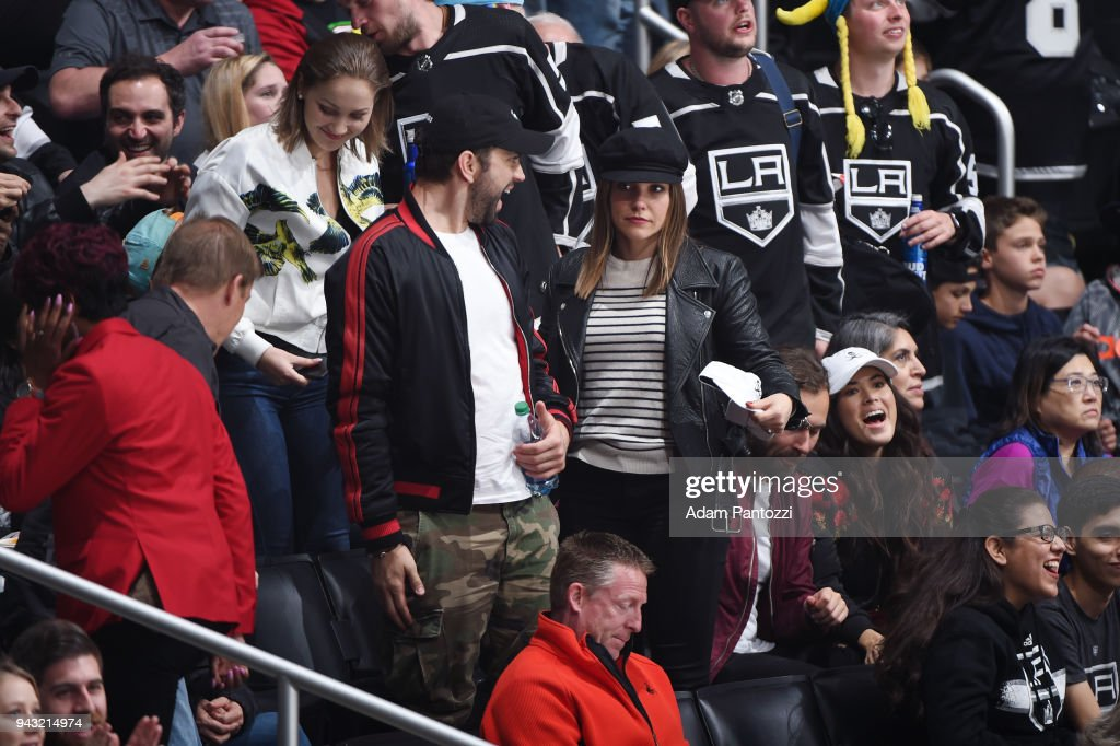 Actress Sophia Bush attends a game between the Dallas Stars and the Los Angeles Kings at STAPLES Center on April 7, 2018 in Los Angeles, California.
