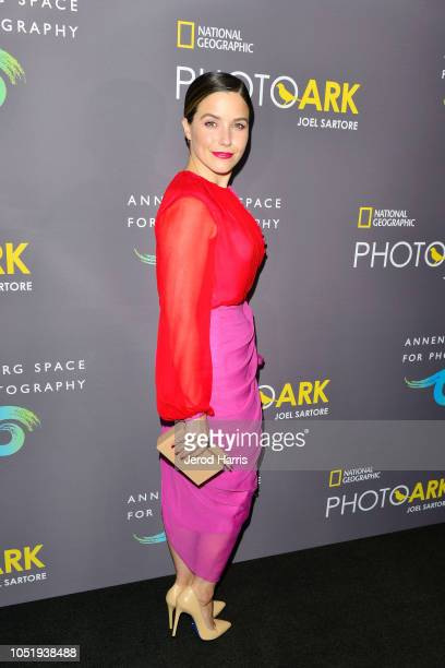 Actress Sophia Bush attends Annenberg Space For Photography's 'National Geographic Photo Ark' Exhibit at Annenberg Space For Photography on October...