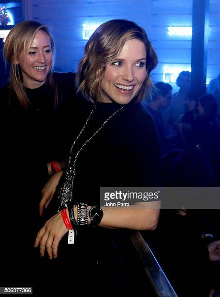Actress Sophia Bush attends Samsung LEVEL Late Night featuring Diplo during The Sundance Film Festival on January 22 2016 in Park City Utah
