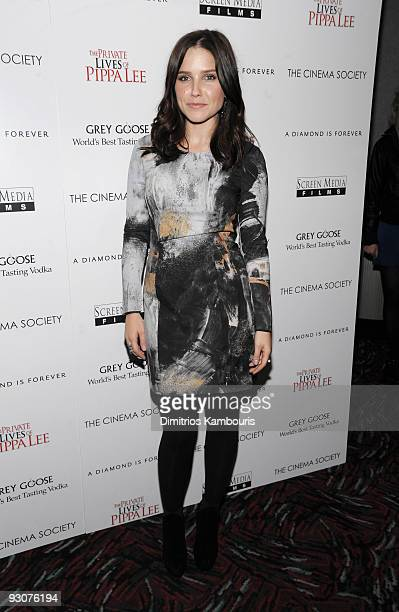 Actress Sophia Bush attends The Cinema Society A Diamond Is Forever screening of 'The Private Lives of Pippa Lee' at AMC Loews 19th Street on...