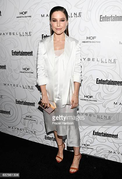 Actress Sophia Bush attends the Entertainment Weekly Celebration of SAG Award Nominees sponsored by Maybelline New York at Chateau Marmont on January...