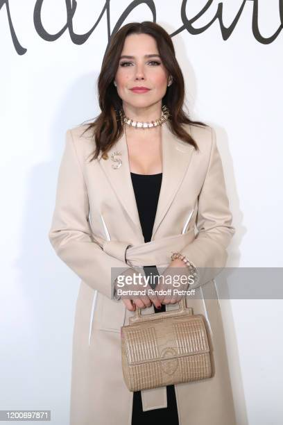 Actress Sophia Bush attends the Schiaparelli Haute Couture Spring/Summer 2020 show as part of Paris Fashion Week on January 20 2020 in Paris France