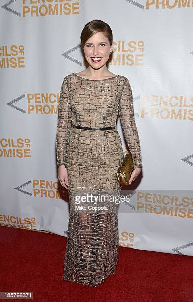 Actress Sophia Bush attends the third annual Pencils of Promise gala at Guastavino's on October 24 2013 in New York City