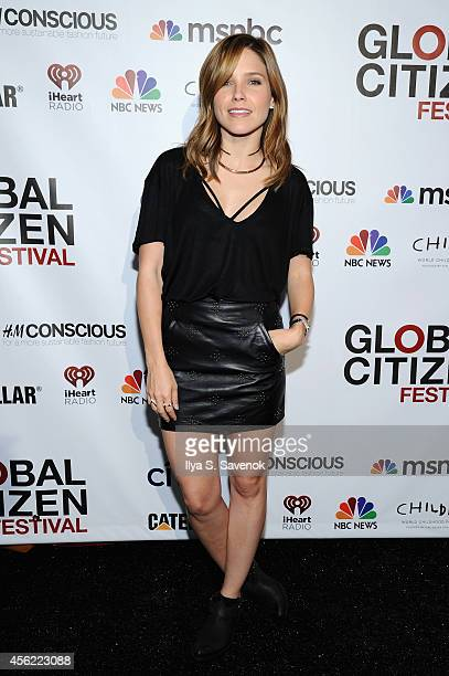 Actress Sophia Bush attends VIP Lounge at the 2014 Global Citizen Festival to end extreme poverty by 2030 in Central Park on September 27 2014 in New...
