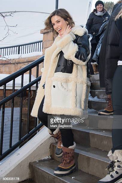 Actress Sophia Bush is sighted at the Sundance Film Festival on January 22 2016 in Park City Utah