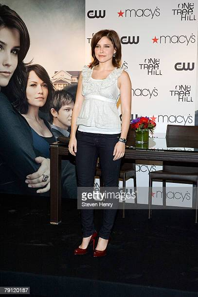 Actress Sophia Bush poses on stage at Macy's Herald Square on January 19 2008 in New York City