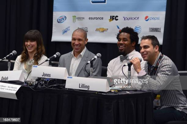 Actress Sophia Bush, Walter Delph CEO of Adly, Dhani Jones, host of Spike.com speak and moderator Adam Lilling speak onstage at The New ROI: Return...