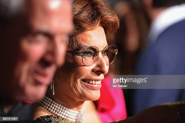 Actress Sophia Loren arrives at the 2010 Pirelli Calendar launch party at Old Billingsgate on November 19 2009 in London England